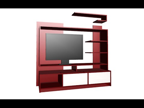 Construir mueble principal para tv led lcd pantalla for Muebles para television modernos