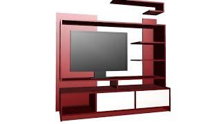 Construir Mueble Principal Para TV LED, LCD, Pantalla Plana   Centro de Entretenimiento