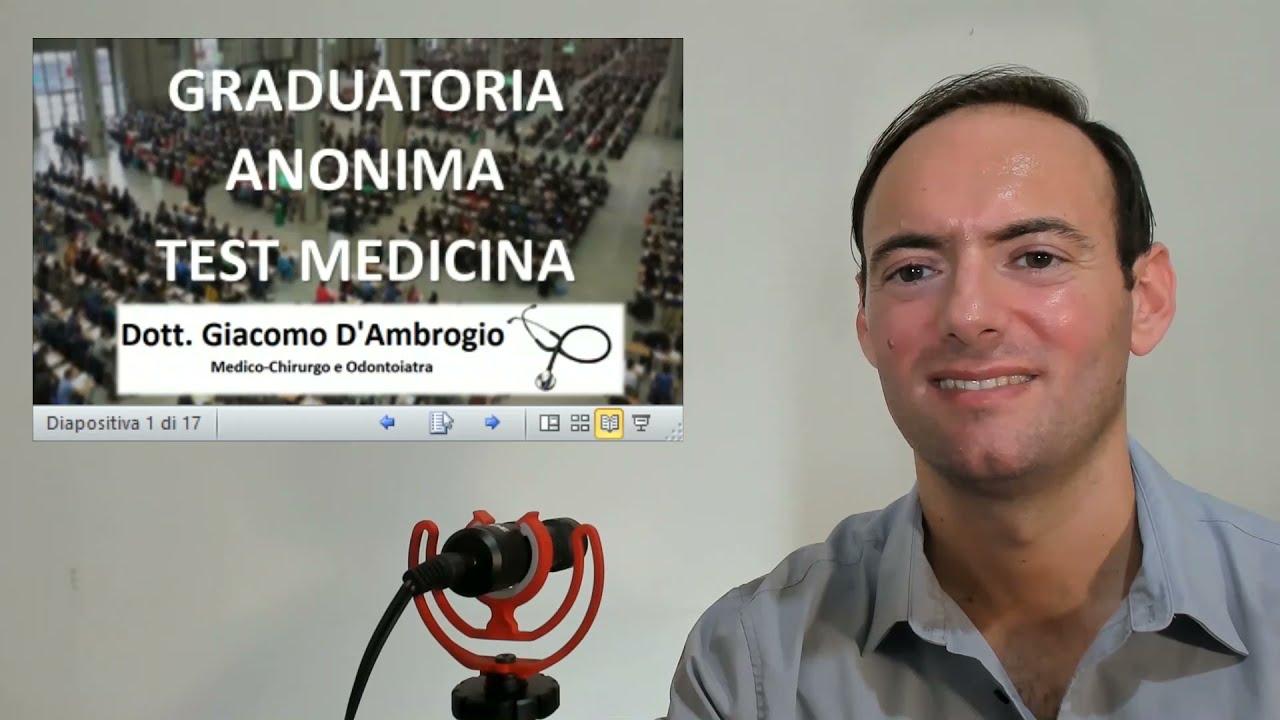 PUNTEGGIO MINIMO TEST MEDICINA 2021 GRADUATORIA ANONIMA (VIDEO)