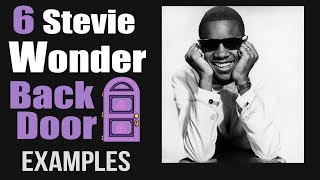 6 Stevie  Wonder Back Door  II-7 V7 examples tutorial