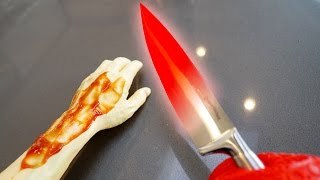EXPERIMENT Glowing 1000 degree KNIFE VS ARM