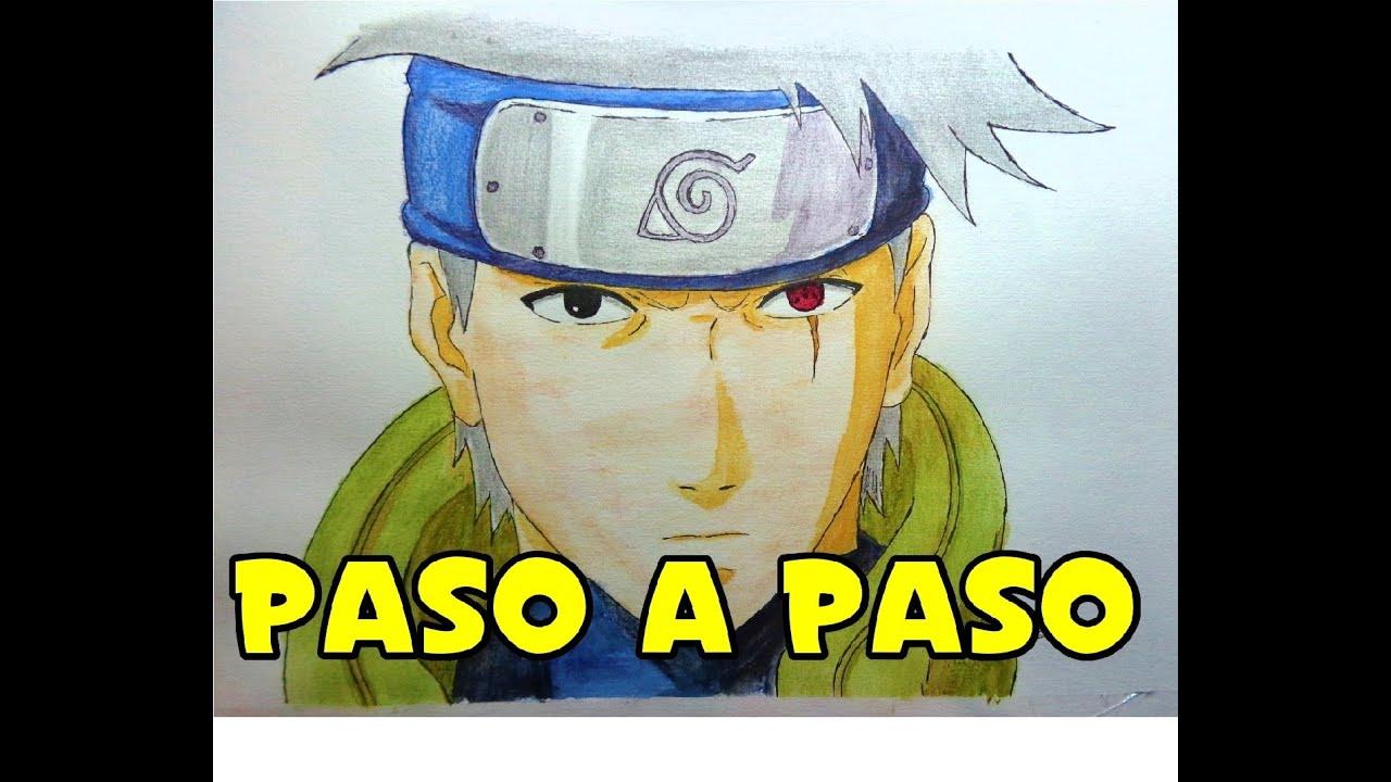 Cómo Dibujar A: Kakashi Hatake Sin Máscara (Naruto)