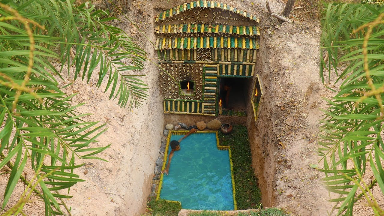 Dig to Build Amazing Secret Swimming Pool and Hidden ...