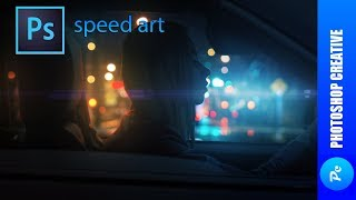 Speed Art - Огни ночного города (#Photoshop) | PhotoshopCreative