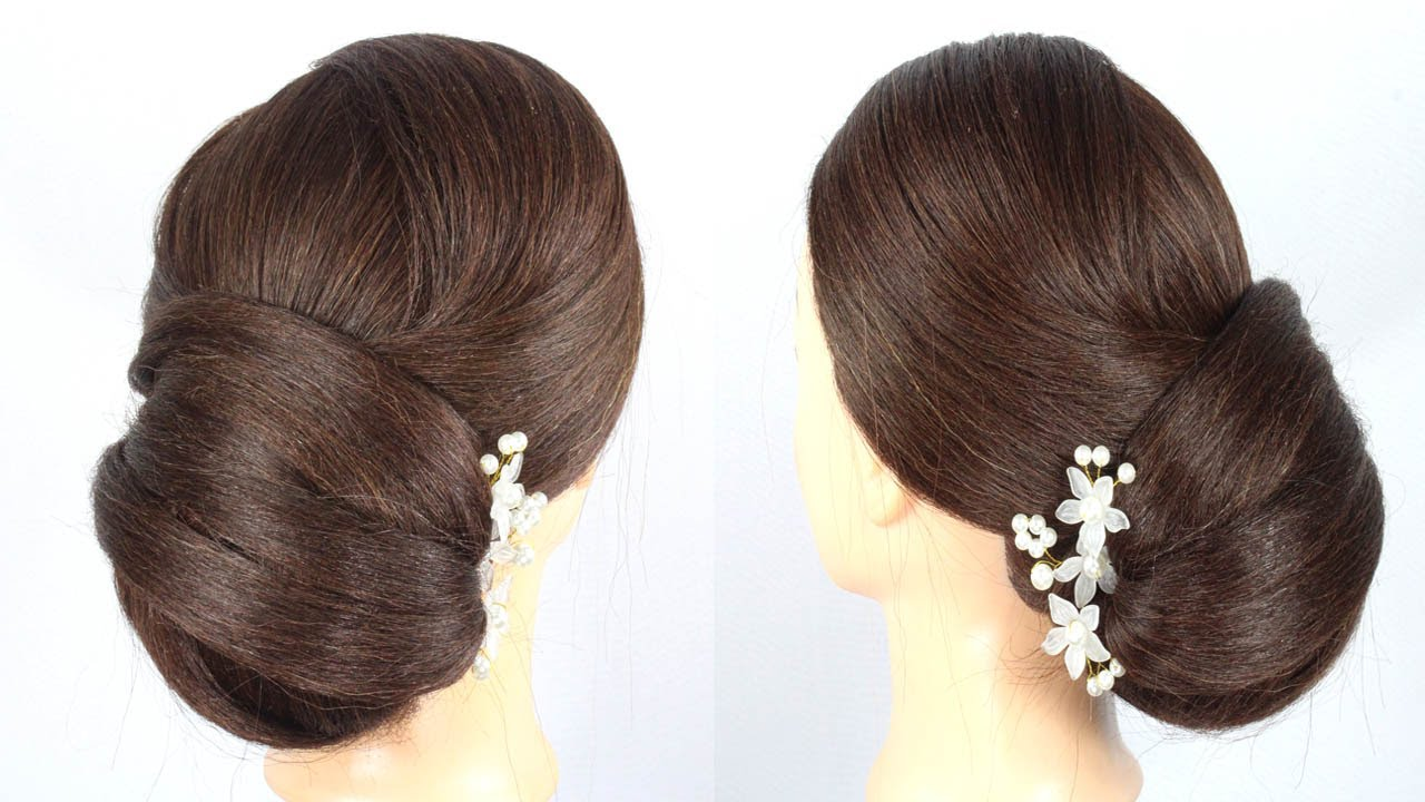 easy bun hairstyle for wedding/party | Trendy Hairstyle For Girls | beautiful hairstyle