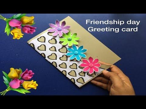 Friendship day greeting card/birthday card/teachers day card/new year greeting card handmade ideas