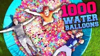 1000 WATER BALLOONS VS. TRAMPOLINE