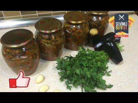 Qış üçün souslu badımcan (Баклажан с соусом на зиму) (Kışlık soslu patlıcan)
