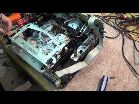 rca   panasonic VHS top side mechanism alignment