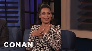 Rosario Dawson Suggests A Halloween Costume For Conan - CONAN on TBS