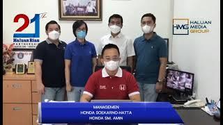 Ucapan Selamat Ulang Tahun Haluan Riau ke-21 dari Honda Pekanbaru