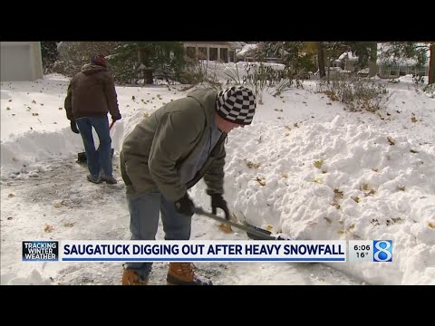 Saugatuck Digging Out After Heavy Snowfall
