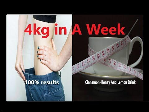 Honey, Lemon, and Cinnamon Drink Help You Lose 4kg in a Week