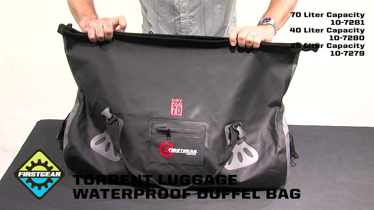 FirstGear Torrent Waterproof Duffel Bags - YouTube de8512cbf889c