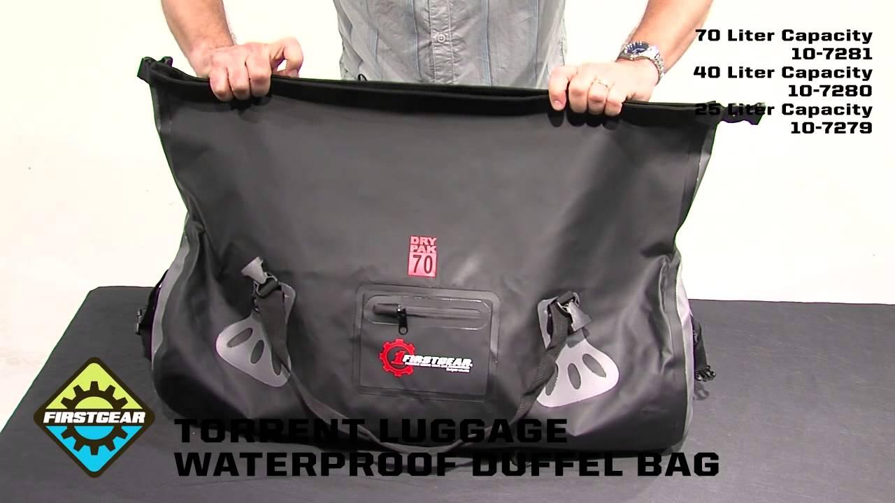 FirstGear Torrent Waterproof Duffel Bags - YouTube 6d40d3fea6b0a