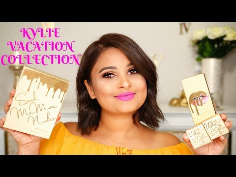 KYLIE COSMETICS VACATION COLLECTION | REVIEW & SWATCHES ON TAN / INDIAN SKIN