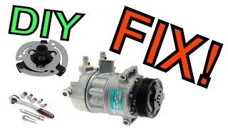VAG A/C clutch replacement DIY 2.0 TDI BMN Sanden PXE16/DELPHI CVC