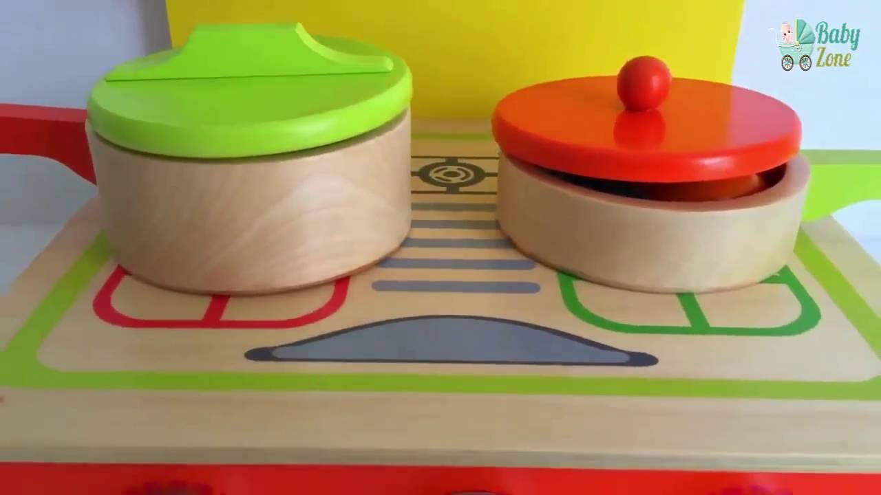 Velcro Toy Kitchen Soup Cooking Wooden Toy Set Vegetables