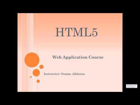 Ch 06 HTML Web Application Course