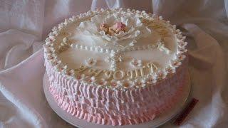 Торт на Крещение Ребенка.(Продолжаем украшать тортики. В этом видео мы делали и украшали наш стандартный вишневый торт и торт на крещ..., 2016-09-12T22:10:06.000Z)