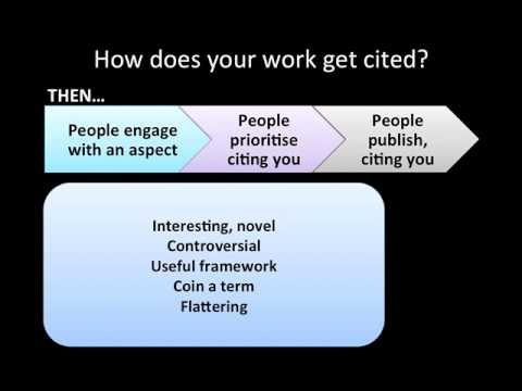 How to increase citations to your published work