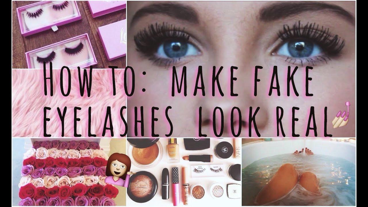 Make Fake Eyelashes Look Real! | my tips & tricks ♡ - YouTube