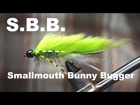 S.B.B. (Smallmouth Bunny Bugger) - UNDERWATER FOOTAGE - Bass Streamer - McFly Angler