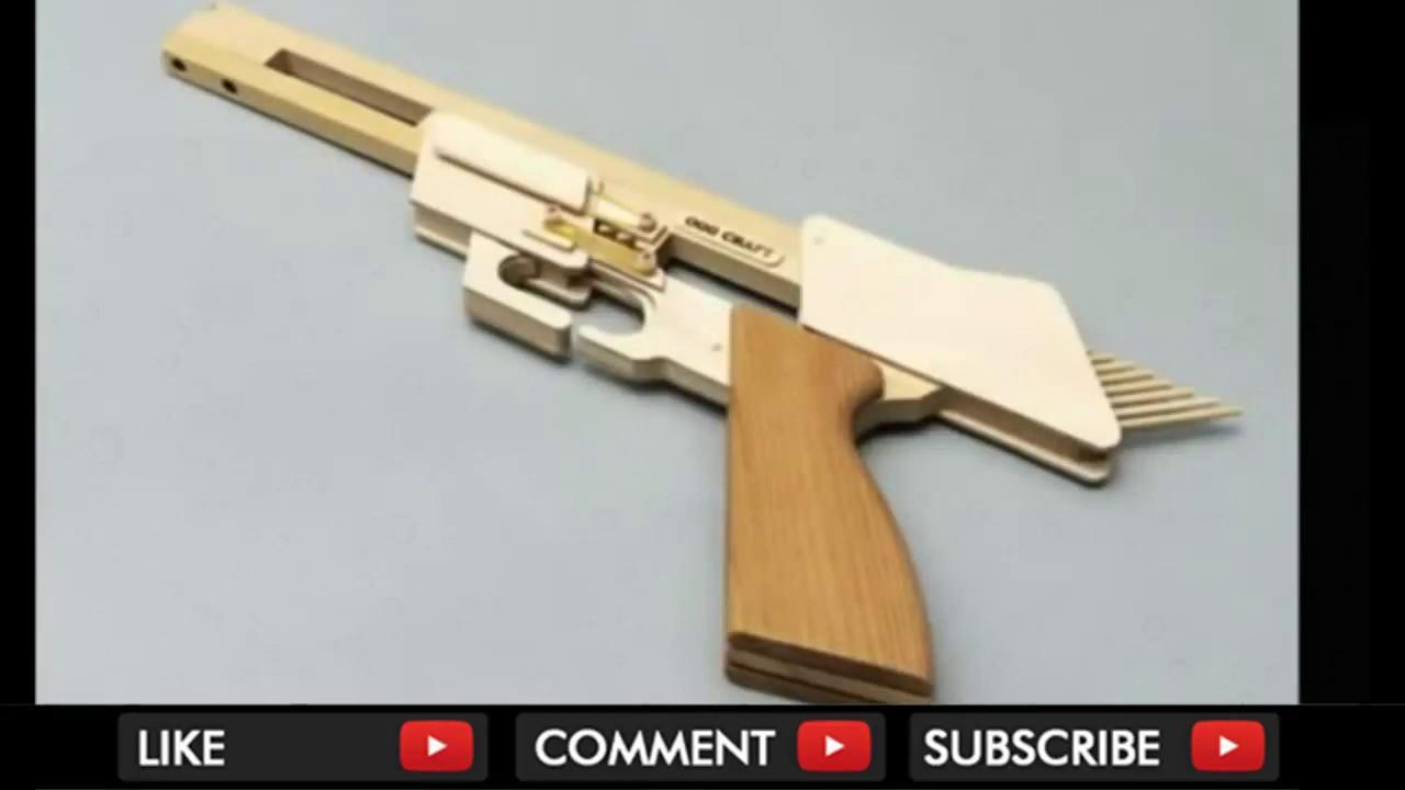 Cara membuat Senjata mainan Karet Buatan Tangan