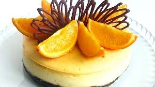 видео Апельсиновый чизкейк без выпечки