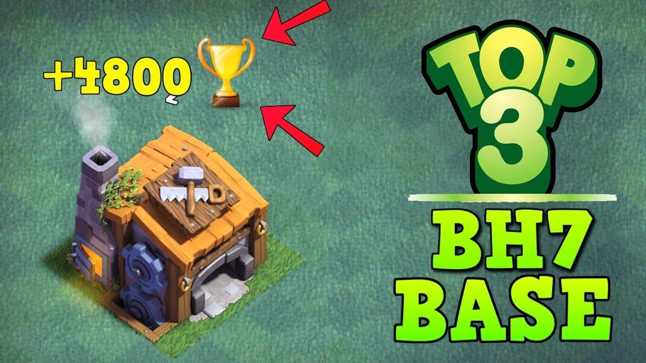 Top 3 best builder hall 7 base 4800 trophy coc bh7 for Best builder