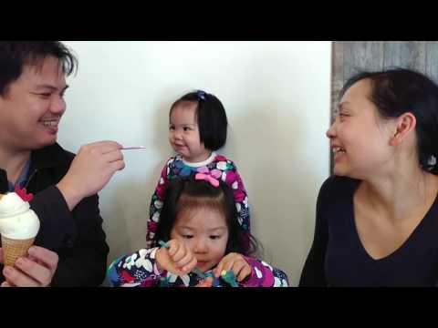 Steve's family eating ice cream