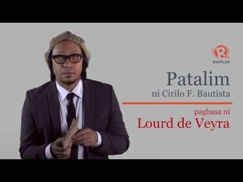 PANOORIN: Pagbasa ni Lourd de Veyra ng 'Patalim'
