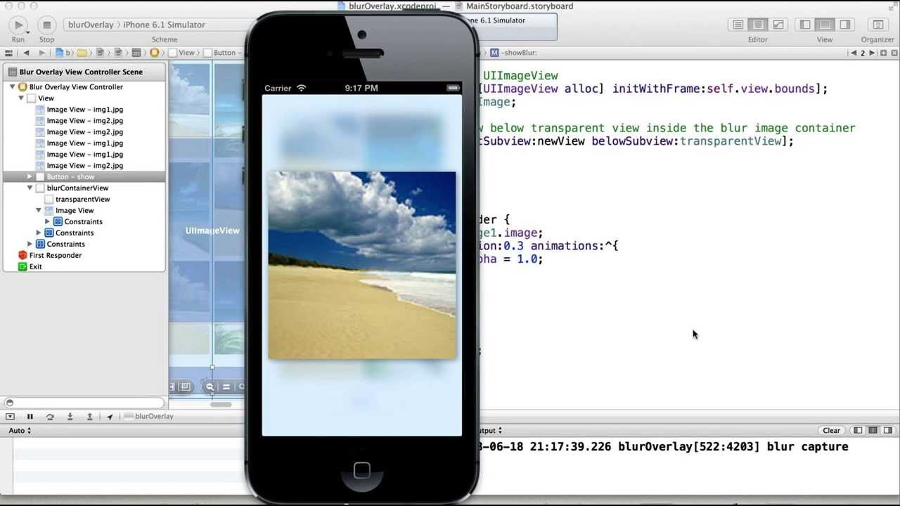 Background image xcode 6 - Ios7 Style Blur Effect In Xcode