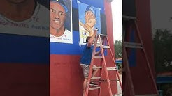 Chris King Painting Mural @ Dan's Sports Cards & Games - Riverside, Jacksonville, FL