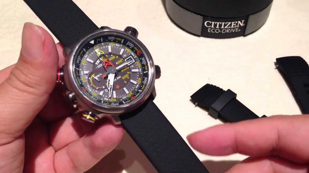 Replacing The Watch Band On The Citizen Promaster Eco