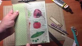 Скрапбукинг простой блокнот с рецептами мастер класс