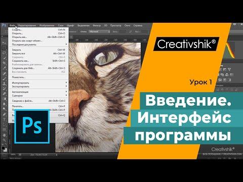 Adobe Photoshop, урок 1. Вводный урок. Интерфейс программы