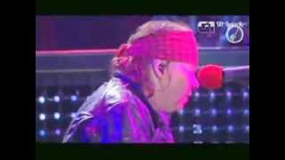 Axl Rose Gets Tired At Rock 'N' Rio 2012