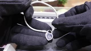 2018 NEW PANDORA Lock Your Promise Bracelet, Fancy Fuchsia Pink & Clear CZ  596586FPC