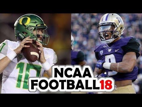 Oregon @ Washington - 11-4-17 NCAA Football 18 PRESEASON Simulation