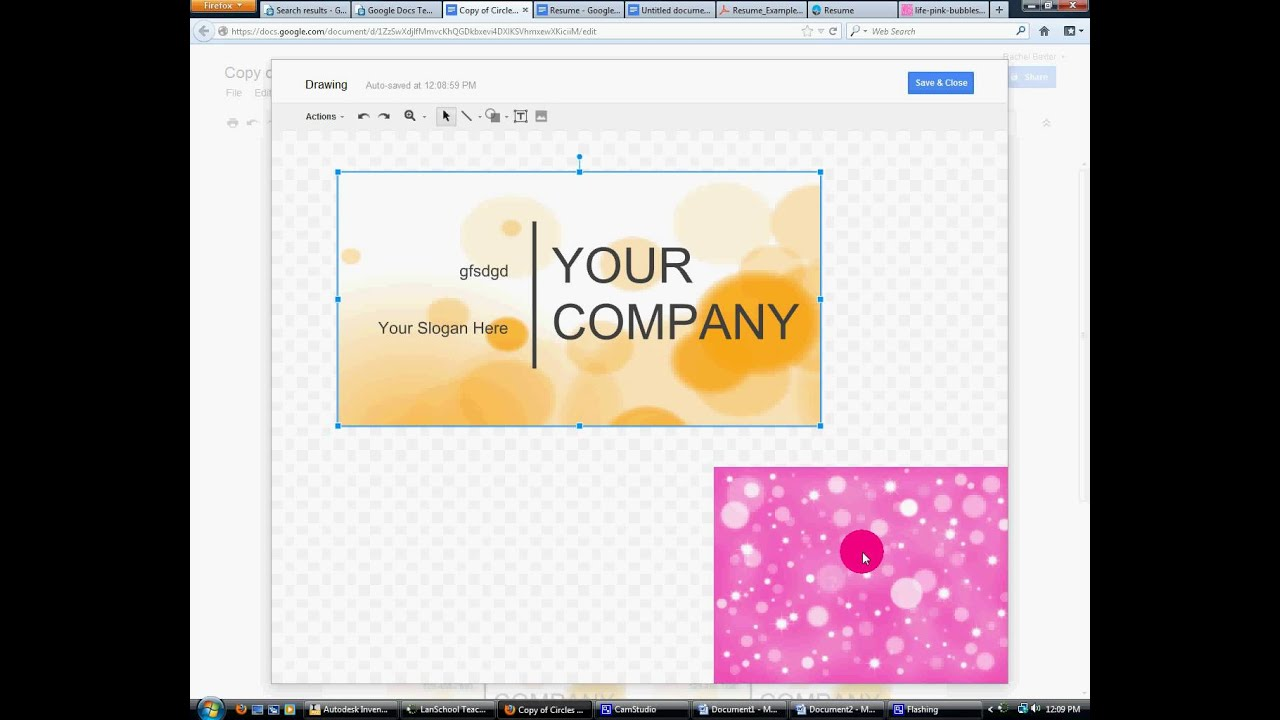 How to make Buisness Card in Google Docs or MS Publisher - YouTube