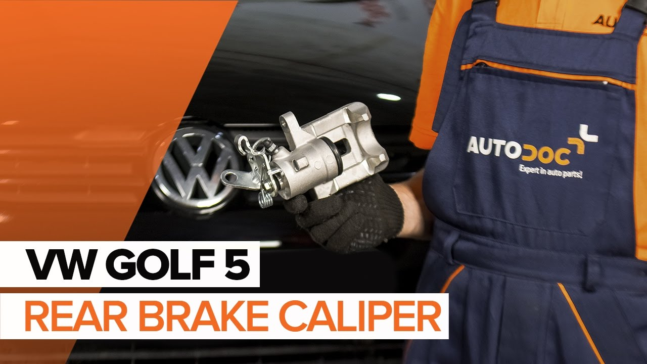 How To Replace A Rear Brake Caliper On Volkswagen Golf 5