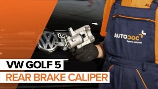 rear and front Caliper installation VW GOLF: video manual
