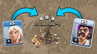 5 Part Wizard + 5 Healer $ War 3 Star Attack in Clash of Clans