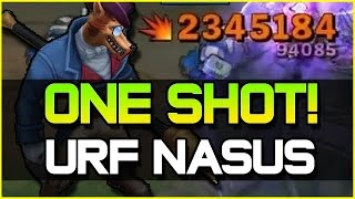 ACTUAL ONE SHOT! - URF NASUS ft. Redmercy | League of Legends