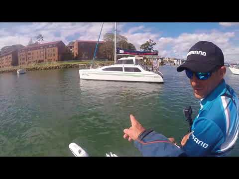 How to catch Bream on Moored Boats fishing Sydney Harbour line watching 2 inch Gulp Shrimp