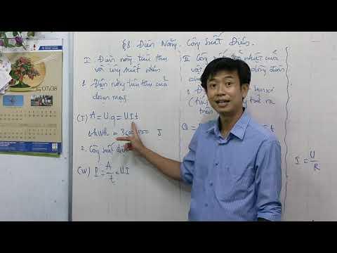 vật lý 11. Bài 8. Điện Năng và Công Suất Điện