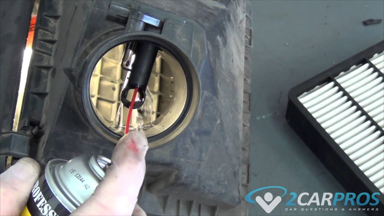 Mass Air Flow Sensor Clean Toyota Tacoma 1995 2004 Youtube