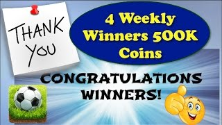 Soccer stars weekly coins giveaway - 4 winners - congratulations my lovey subscribers