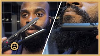How to Straighten Y๐ur Beard Tutorial (Flat Iron Method) | Ben Wilson